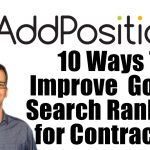 10 Ways To Improve Google Search Ranking for Contractors Podcast Card