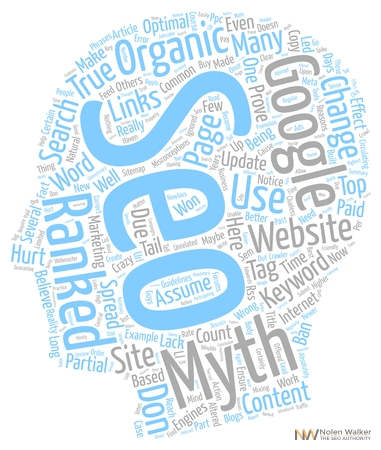 68120769 - organic seo top myths text background wordcloud concept