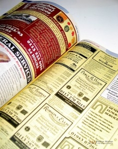 phone book yellow pages