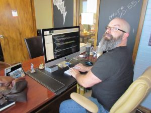 Web Designer Working on Responsive Design