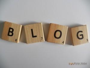Blog wirtten in scrabble letters