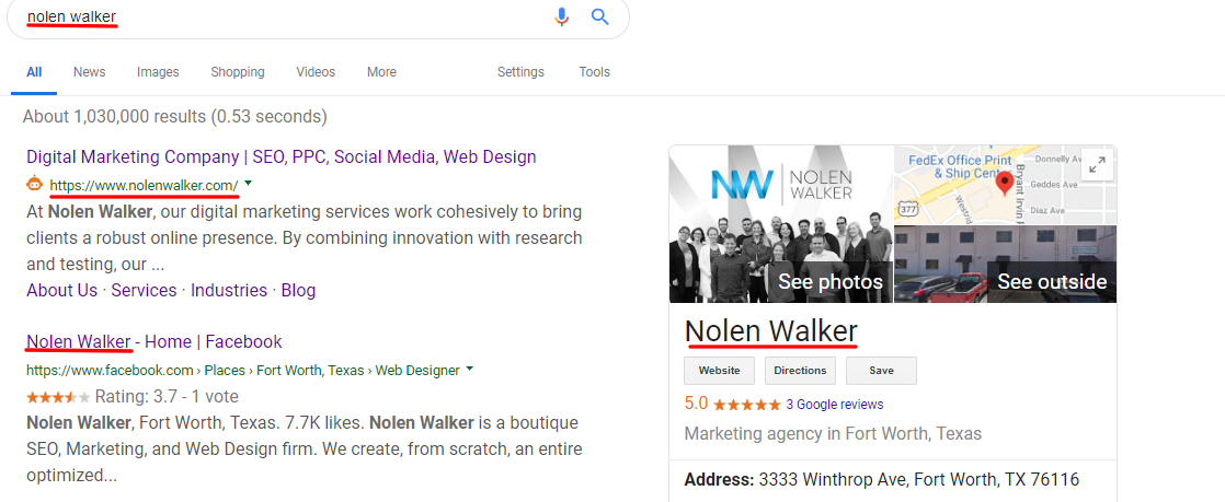 Branded Search Example