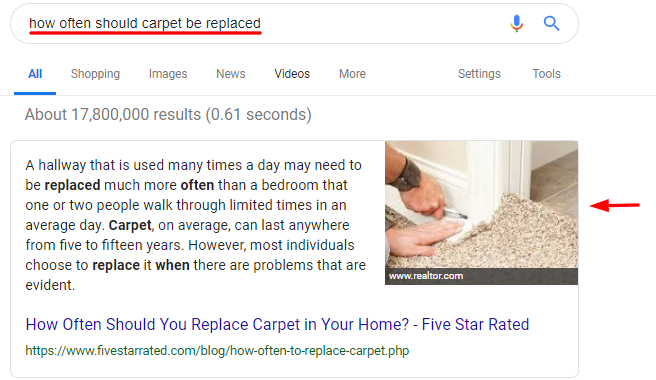Carpet Featured Snippet