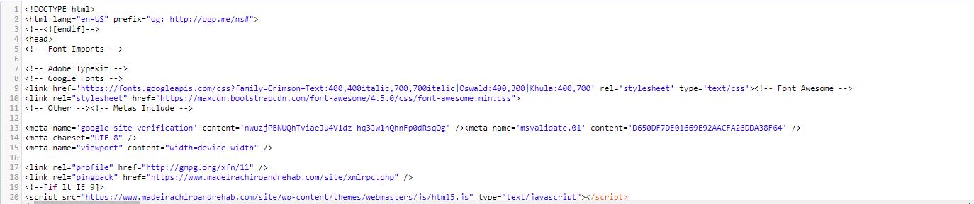 Chiro Website Source Code