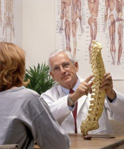 Chiropractor in Office