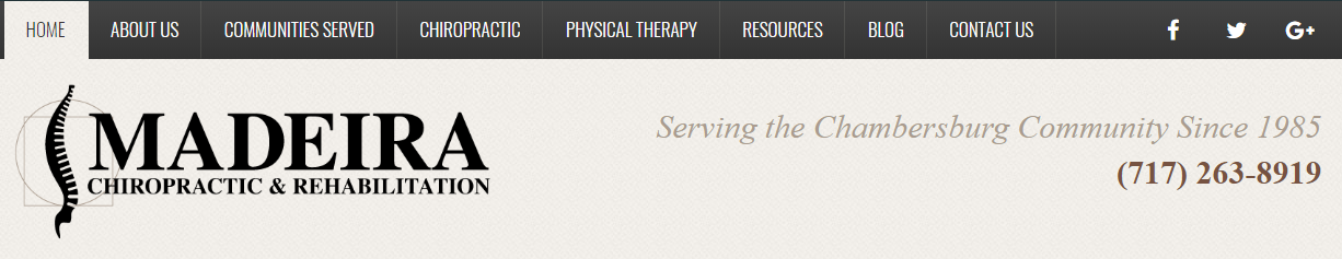 Chiropractor Website Header
