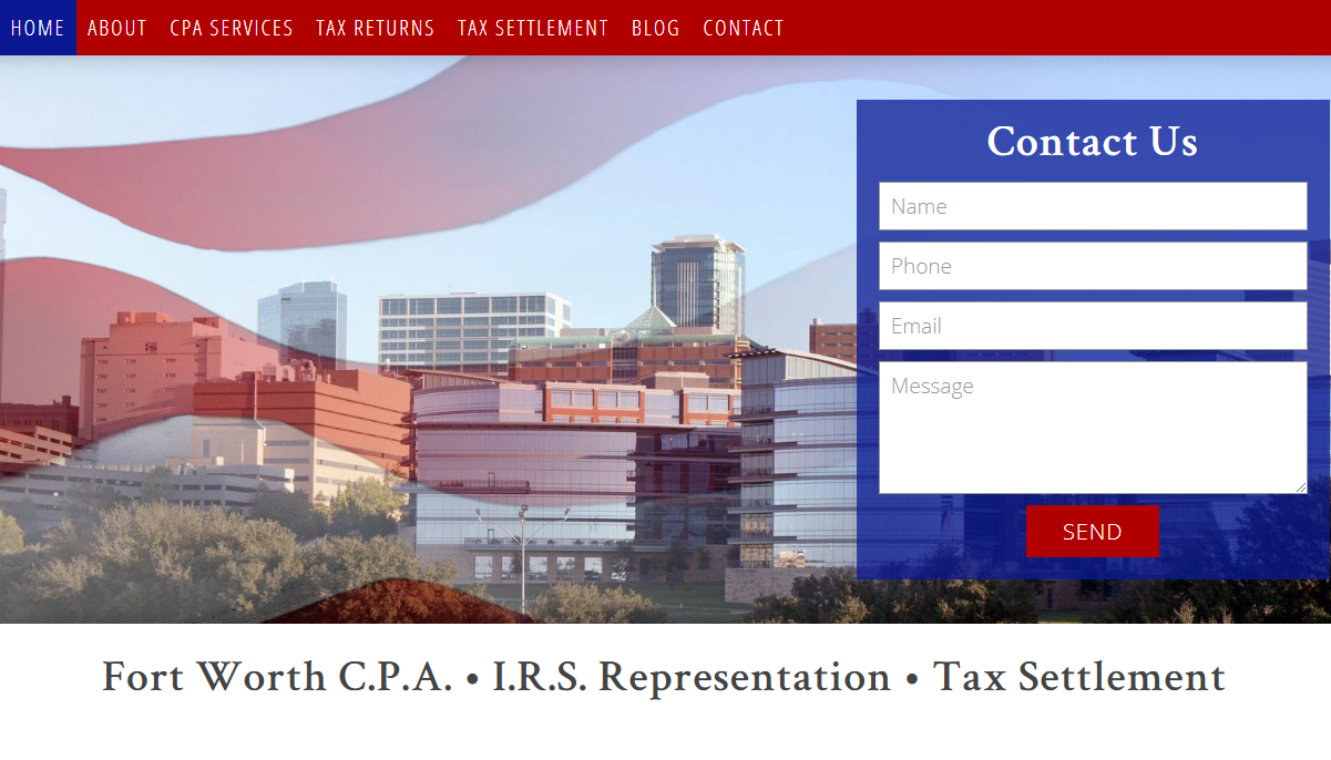 CPA Website Example