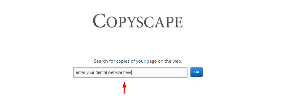 Dental Website Copyscape
