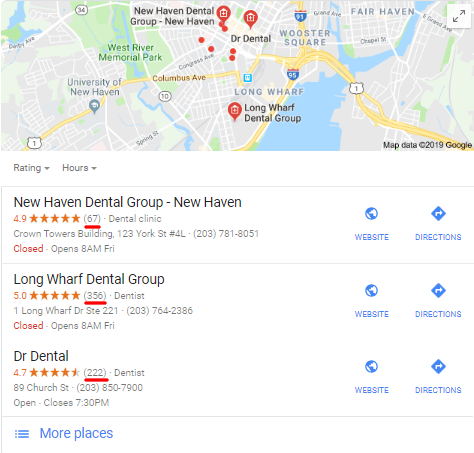 Dentist Map Pack Reviews