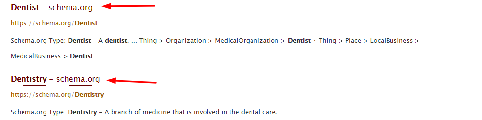 Dentist Schema Screenshot