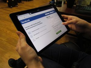 Facebook Business Page Signup on Tablet