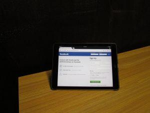 Facebook on Tablet