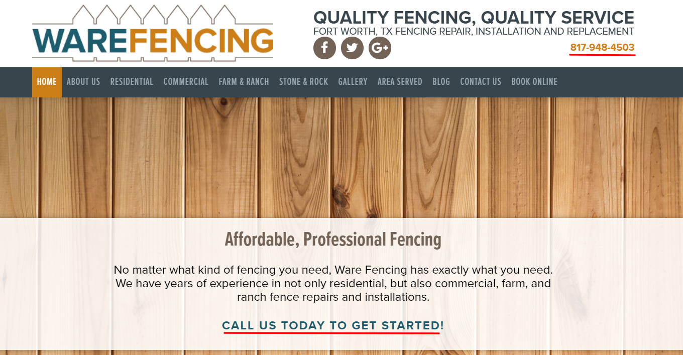 Fence Installer Homepage