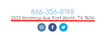 Footer Address Screenshot
