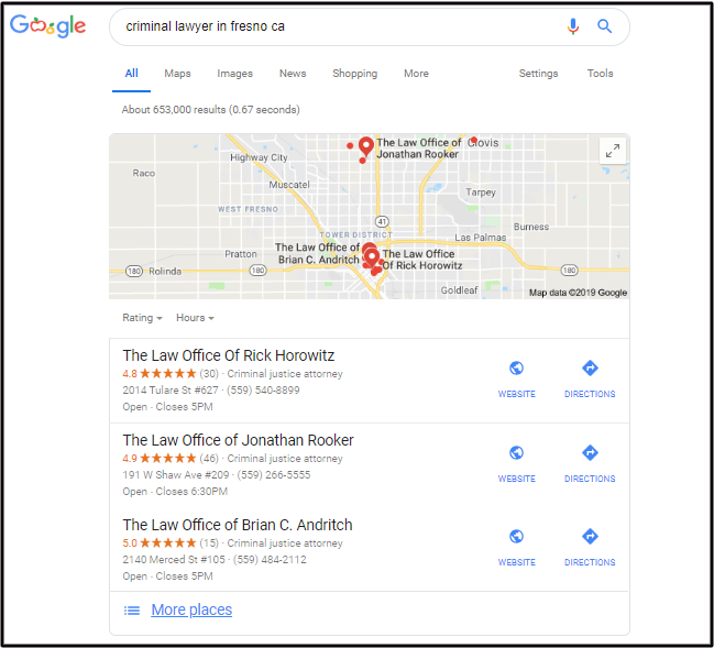 Lawyer SEO and Google SERPs