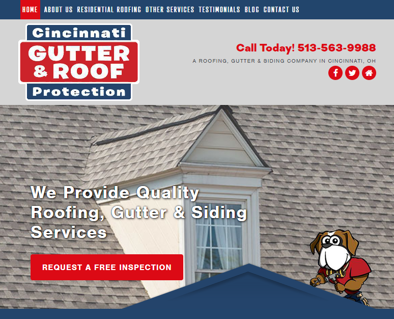 A Nice Gutter and Roofing Site Design