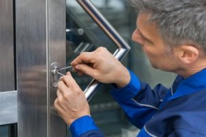 Contractor Performing Locksmith Services