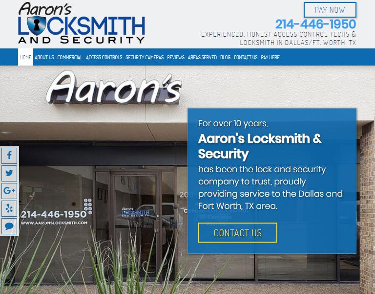 Clear Website Design Encouraging Locksmith SEO