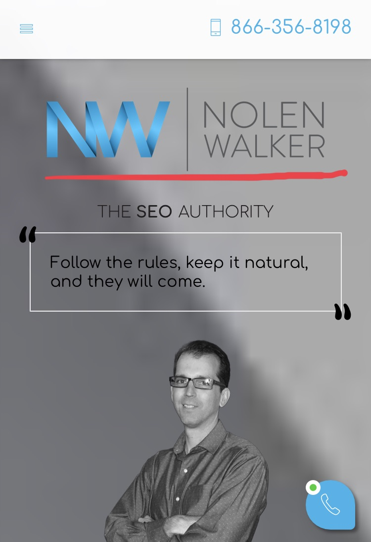 Nolen Walker Mobile Screenshot