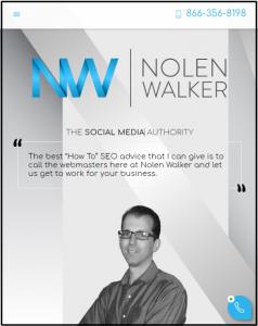Mobile View for Nolen Walker