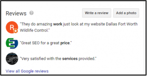 Other Reviews Presented on Google