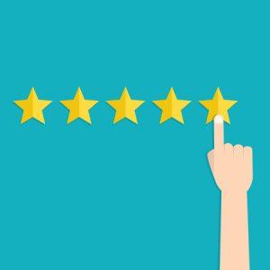 Stars Representing Online Reviews