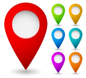 Map Marking Icons Representing Plumber Local SEO