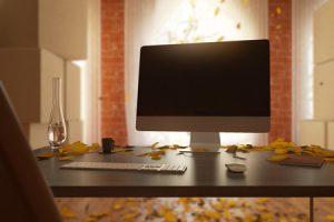 Desktop Computer That Is Used For Plumbing Web Design