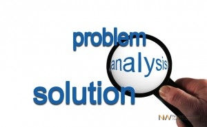 Picture of a problem and solution analysis