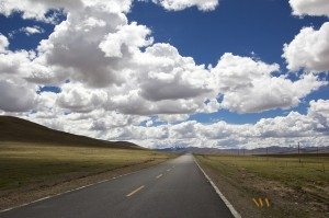 Picture of an open road