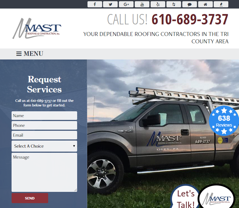 Clean Web Design to Boost Roofing Company SEO