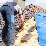 Roofing Contractor on Roof