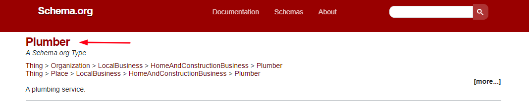 Schema for Plumbers