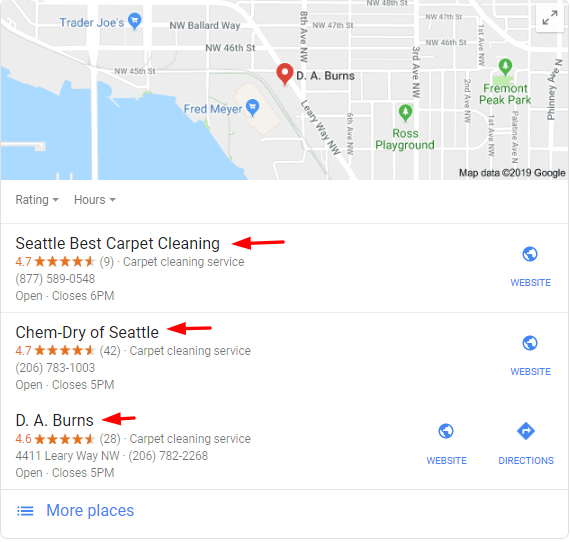 Seattle Map Pack Carpet Cleaners