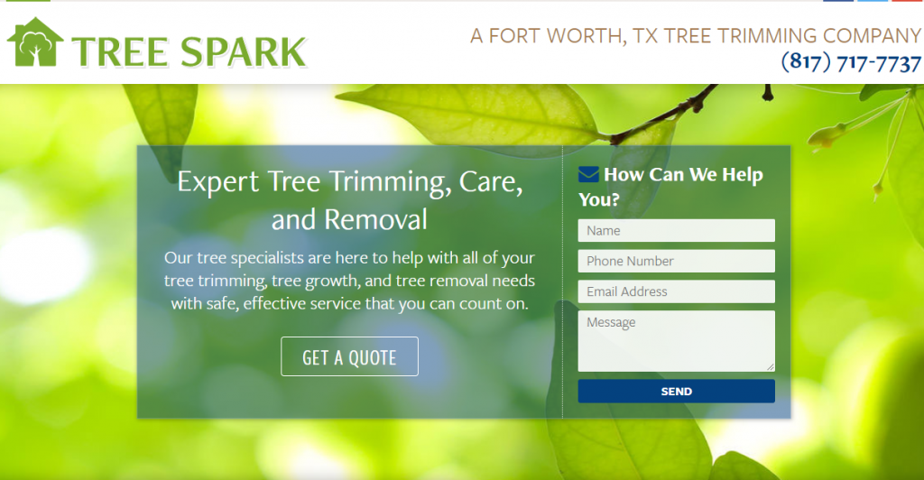 Tree Trimming Website Example