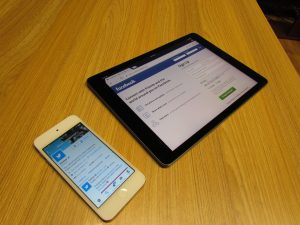 Twitter & Facebook on Phone and Tablet Respectively